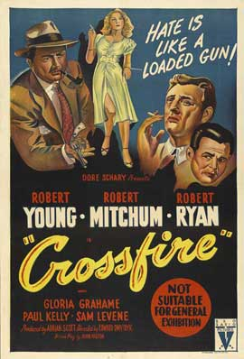 Crossfire - 11 x 17 Movie Poster - Australian Style A