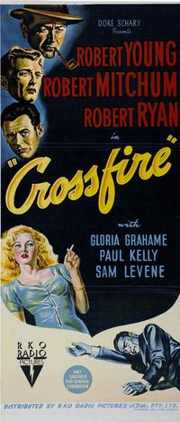 Crossfire - 14 x 36 Movie Poster - Australian Style A