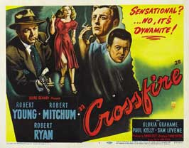 Crossfire - 22 x 28 Movie Poster - Half Sheet Style B
