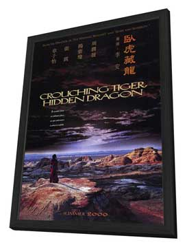 Crouching Tiger, Hidden Dragon - 27 x 40 Movie Poster - Style A - in Deluxe Wood Frame