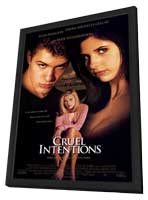 Cruel Intentions - 27 x 40 Movie Poster - Style A - in Deluxe Wood Frame