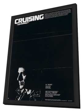 Cruising - 27 x 40 Movie Poster - Style A - in Deluxe Wood Frame