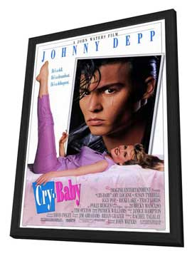 Cry-Baby - 11 x 17 Movie Poster - Style A - in Deluxe Wood Frame