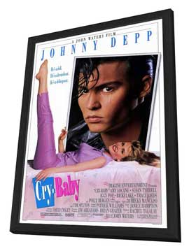 Cry-Baby - 27 x 40 Movie Poster - Style A - in Deluxe Wood Frame