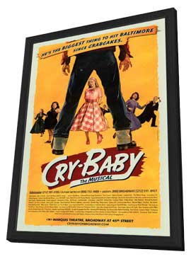 Cry Baby the Musical (Broadway) - 11 x 17 Poster - Style A - in Deluxe Wood Frame