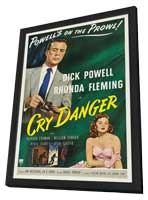 Cry Danger - 11 x 17 Movie Poster - Style B - in Deluxe Wood Frame