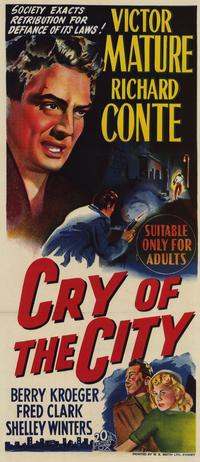 Cry of the City - 14 x 36 Movie Poster - Insert Style A