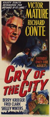 Cry of the City - 27 x 40 Movie Poster - Style A