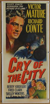 Cry of the City - 14 x 36 Movie Poster - Australian Style A