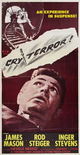 Cry Terror - 20 x 40 Movie Poster - Style A