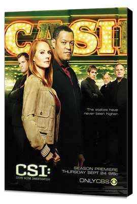 CSI: Crime Scene Investigation - 11 x 17 TV Poster - Style L - Museum Wrapped Canvas