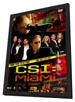 CSI: Miami - 11 x 17 TV Poster - Japanese Style A - in Deluxe Wood Frame