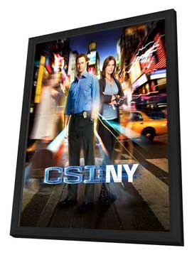 CSI: NY - 11 x 17 TV Poster - Style E - in Deluxe Wood Frame
