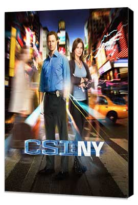 CSI: NY - 11 x 17 TV Poster - Style E - Museum Wrapped Canvas