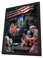 CSNY D�j� Vu - 11 x 17 Movie Poster - Style A - in Deluxe Wood Frame