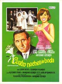 Cuatro noches de boda - 11 x 17 Movie Poster - Spanish Style A