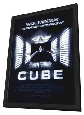 Cube - 11 x 17 Movie Poster - Style A - in Deluxe Wood Frame