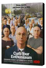Curb Your Enthusiasm - 11 x 17 TV Poster - Style D - Museum Wrapped Canvas