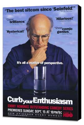 Curb Your Enthusiasm - 27 x 40 TV Poster - Style B - Museum Wrapped Canvas