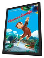 Curious George - 11 x 17 Movie Poster - Style E - in Deluxe Wood Frame