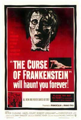 The Curse of Frankenstein - 27 x 40 Movie Poster - Style A