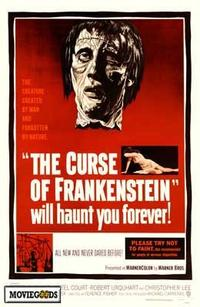 The Curse of Frankenstein - 43 x 62 Movie Poster - Bus Shelter Style A