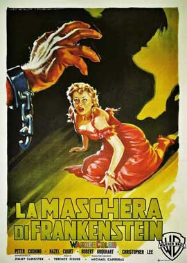 The Curse of Frankenstein - 11 x 17 Movie Poster - Italian Style B
