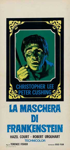 The Curse of Frankenstein - 14 x 36 Movie Poster - French Style B