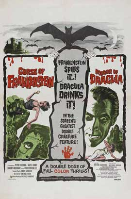 The Curse of Frankenstein - 11 x 17 Movie Poster - Style G