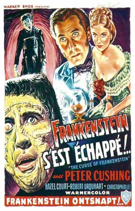 The Curse of Frankenstein - 11 x 17 Movie Poster - French Style A