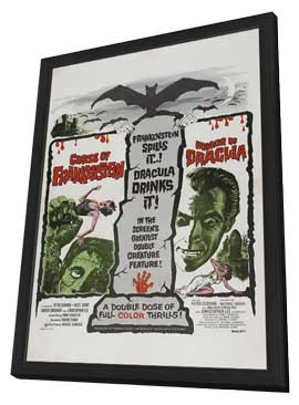 The Curse of Frankenstein - 27 x 40 Movie Poster - Style E - in Deluxe Wood Frame