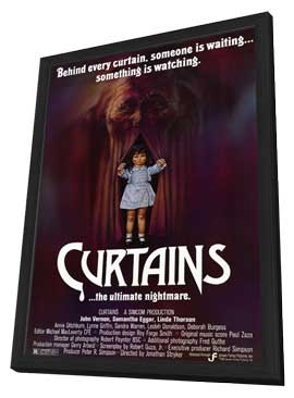 Curtains - 11 x 17 Movie Poster - Style A - in Deluxe Wood Frame