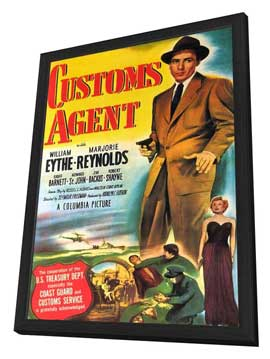 Customs Agent - 11 x 17 Movie Poster - Style A - in Deluxe Wood Frame