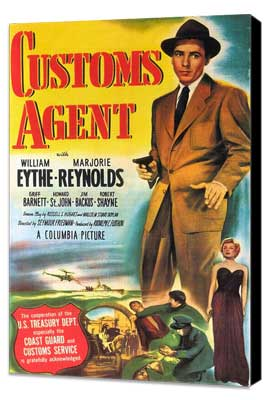 Customs Agent - 11 x 17 Movie Poster - Style A - Museum Wrapped Canvas