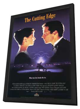 The Cutting Edge - 11 x 17 Movie Poster - Style C - in Deluxe Wood Frame