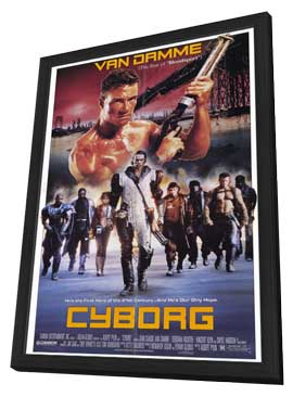 Cyborg - 11 x 17 Movie Poster - Style A - in Deluxe Wood Frame