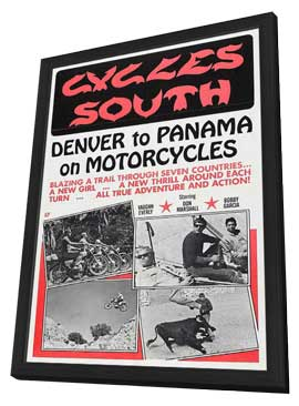 Cycles South - 11 x 17 Movie Poster - Style A - in Deluxe Wood Frame