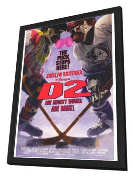 D2 The Mighty Ducks - 27 x 40 Movie Poster - Style A - in Deluxe Wood Frame