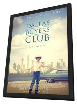 Dallas Buyers Club - 27 x 40 Movie Poster - Style A - in Deluxe Wood Frame