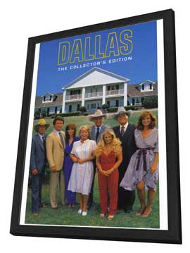Dallas (TV) - 27 x 40 TV Poster - Style C - in Deluxe Wood Frame