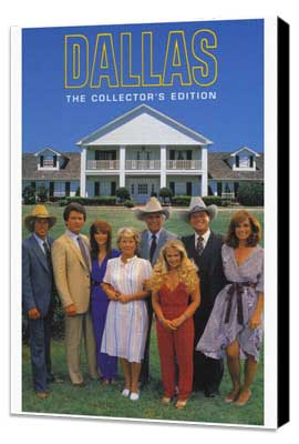 Dallas (TV) - 27 x 40 TV Poster - Style C - Museum Wrapped Canvas