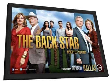 Dallas (TV) - 11 x 17 TV Poster - Style A - in Deluxe Wood Frame