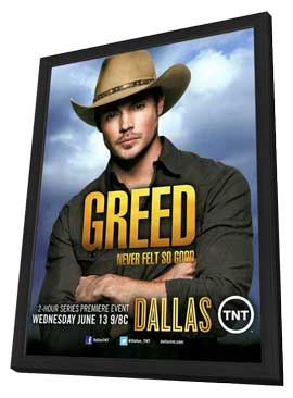 Dallas (TV) - 11 x 17 TV Poster - Style B - in Deluxe Wood Frame