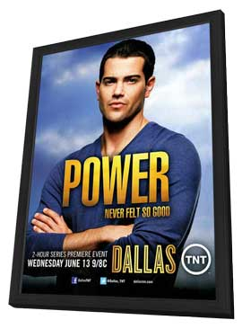 Dallas (TV) - 11 x 17 TV Poster - Style C - in Deluxe Wood Frame