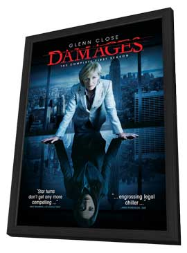 Damages (TV) - 11 x 17 TV Poster - Style D - in Deluxe Wood Frame