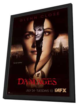 Damages (TV) - 27 x 40 TV Poster - Style A - in Deluxe Wood Frame