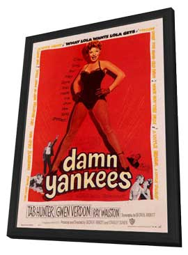 Damn Yankees! - 11 x 17 Movie Poster - Style A - in Deluxe Wood Frame