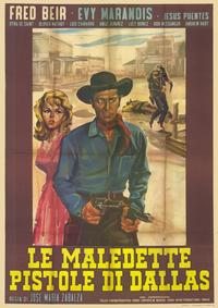 Damned Pistols of Dallas - 11 x 17 Movie Poster - Spanish Style A