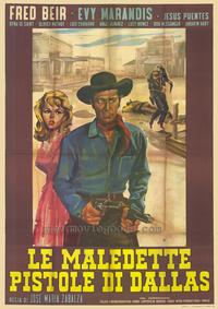 Damned Pistols of Dallas - 27 x 40 Movie Poster - Spanish Style A
