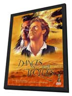 Dances with Wolves - 27 x 40 Movie Poster - Style E - in Deluxe Wood Frame
